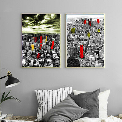 City Landscape Canvas Poster Nordic Abstract Art Print Modern Home Wall Decor