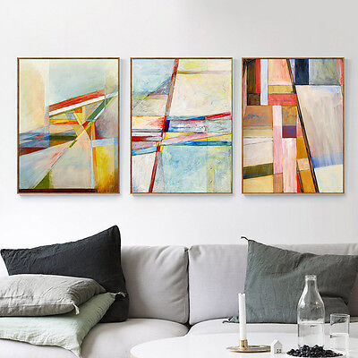 Abstract Geometry Canvas Poster Nordic Art Print Modern Home Wall Decor