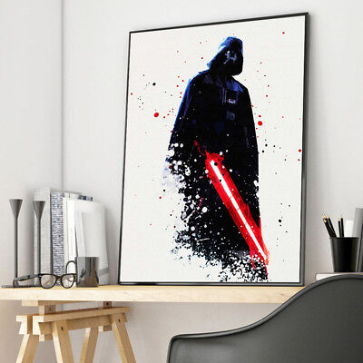 Watercolor Star Wars Darth Vader Movie Canvas Poster Art Print Wall Home Decor