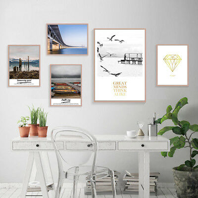 Nordic Style Travel Landscape Canvas Scandinavian Poster Wall Art  Prints