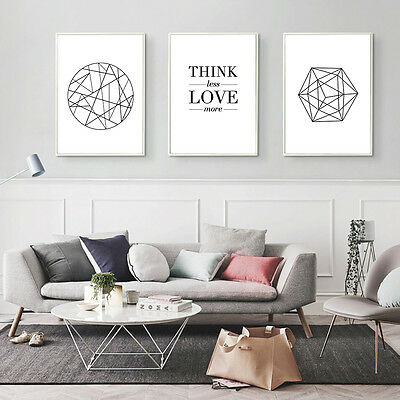 Geometry Canvas Poster Nordic Abstract Minimalist Art Print Modern Wall Decor