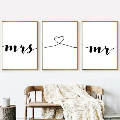LOVE Letter Art Poster Abstract Wall Art Canvas Print Gift Couple Room Decor