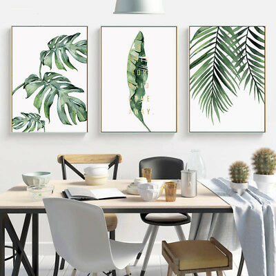 Watercolor Plants Leaf Canvas Poster Print Nordic Decoration Wall Art Painting