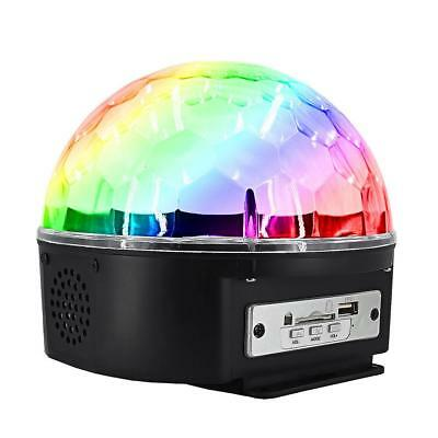 9LED Disco Stage DJ KTV Light Sound Activated Crystal Magic Club Projector Lamp