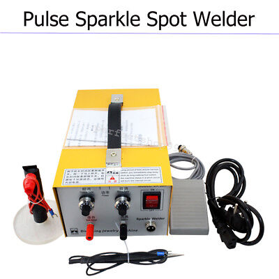 USA Pulse Sparkle Spot Welder Electric Jewelry Welding Machine Silver Warranty