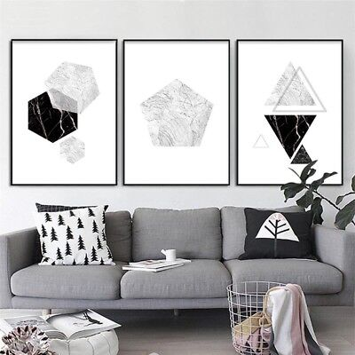 Marble Geometry Abstract Painting Wall Art Canvas Poster Print Home Decoration