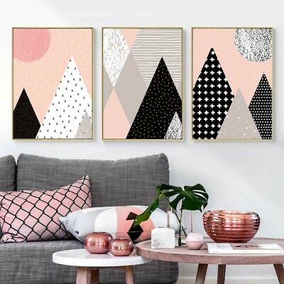 Abstract Geometric Mountain Canvas Poster Art Prints Wall Painting Home Decor