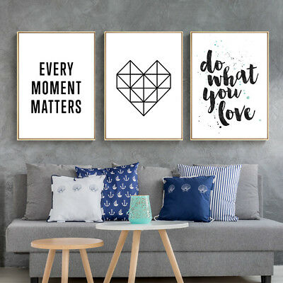 Motivational Life Quote Canvas Poster Abstract Wall Picture Art Prints Decor