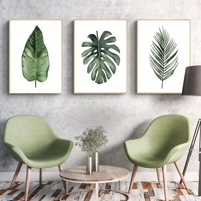 Nordic Art Plants Leave Wall Picture Canvas Poster Print Home Decor