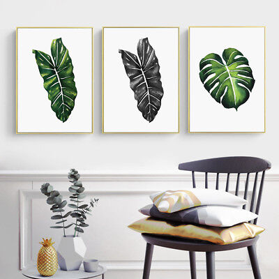 Watercolor Leaves Plants Canvas Poster Picture Prints Art Wall Decor