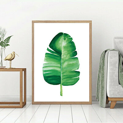 Watercolor Plants Leaves Canvas Poster Quote Art Print Wall Painting Decor
