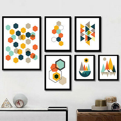 Abstract Geometry Canvas Poster Nordic Minimalist Art Print Home Wall Decor