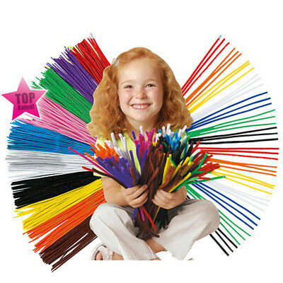 30CM Chenille Stems Pipe Cleaners Kids Craft Educational Toys Twist Rods Wire