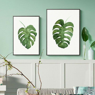 Watercolor Leaves Canvas Poster Plants Print Wall Painting Home Art Decor