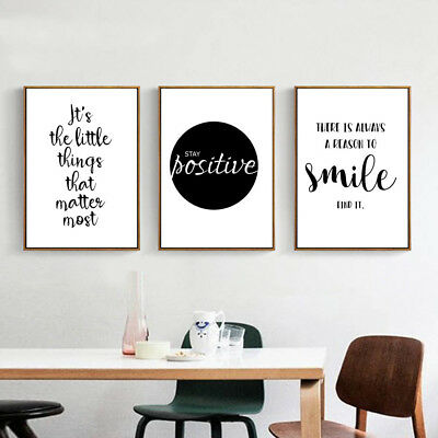 Mativational Life Quote Canvas Poster Print Art Painting Wall Picture Decor
