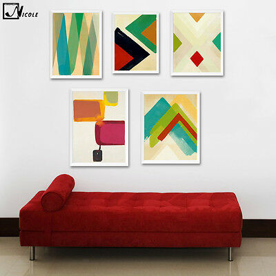 Colorful Geometry Canvas Poster Art Print Modern Abstract Minimalist Wall Decor