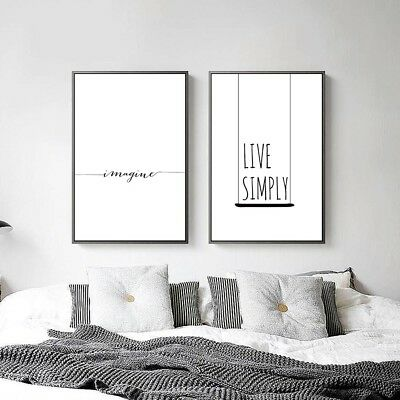 Abstract Minimalist Canvas Poster Nordic Art Print Modern Wall Decor