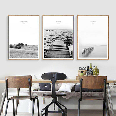 Scandinavian Landscape Wall Art Poster Nordic Canvas Print Living Room Decor