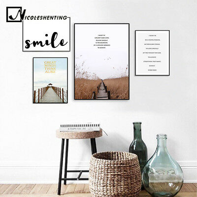 Bridge Pier Landscape Canvas Poster Nordic Wall Art Print Living Room Decoration