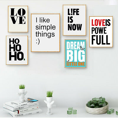 Words Letters Canvas Poster Motivational Art Prints Modern Home Wall Decor