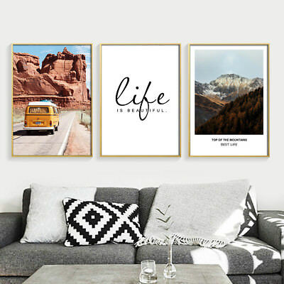 Life Motivational Canvas Poster Landscape Wall Art Print Nordic Style Home Decor