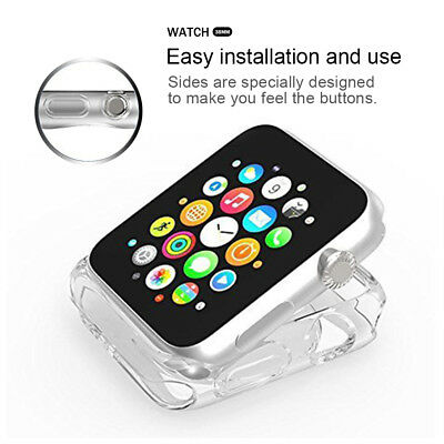 38mm Soft TPU Protective Clear  iWatch Case Cover  For Apple Watch Series 1