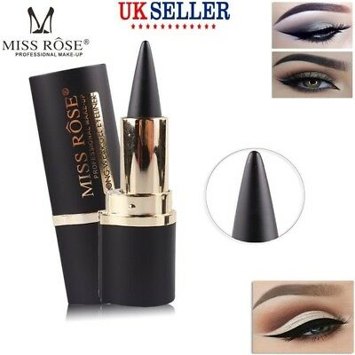 Lady ROSE Black Eyeliner Gel Eye Liner Pen Pencil Beauty Pro Makeup Waterproof