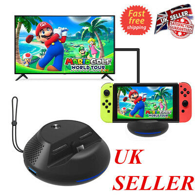 Portable TV Dock Converter HDMI Charger Base Station fr Nintendo Switch UK STOCK