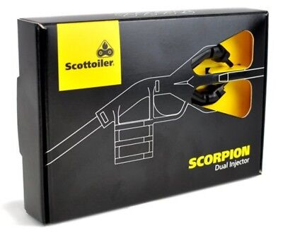 NEW! Scottoiler Scorpion Improved Dual Injector Motorcycle Chain Lubrication Kit