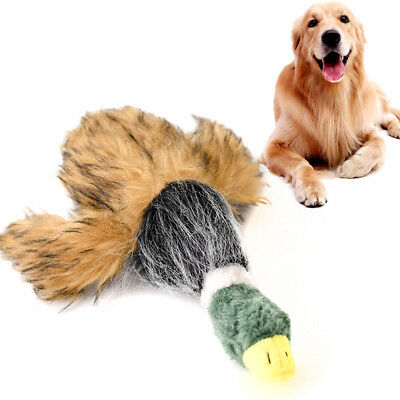 For Dog Toy Play Funny Pet Puppy Chew Squeaky Sound Squeaker Plush Duck Toys
