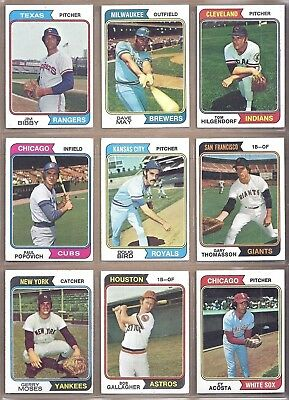 1974 and 1976 TOPPS 25 CARD LOT COMPLETE YOUR SET YOU PICK ANY 25  - EX-NM