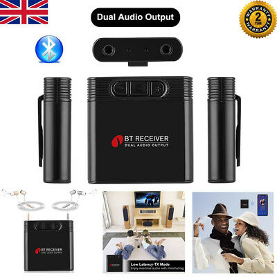 Dual Output 3.5MM Wireless Bluetooth Stereo Audio Music Receiver Adapter Dongle