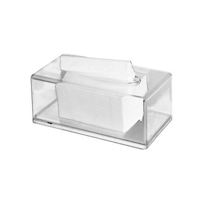 2X(Acrylic Clear Tissue Box Cover Rectangular Napkin Car Office Paper Holde Q0N7