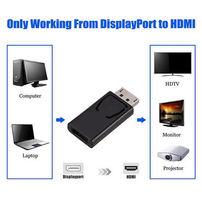 Portable Display Port to HDMI Male Female Adapter Converter for PC HDTV Monitor