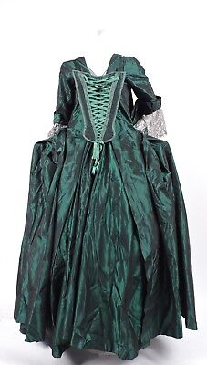 18Th C Style Custom Made 3 Pc Open Robe Colonial Costume Dress