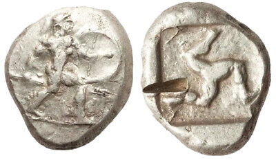 PAMPHYLIA. Aspendus. Ca. mid-5th century BC. AR stater (18mm, 10.86 gm). XF,