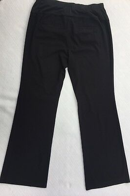 6e57faedc3e70 Liz Lange for Target Maternity Pants Sz 8 Black Full Panel Stretch Career