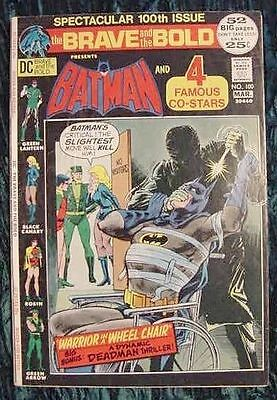 The Brave and the Bold #100 VG Very Good  Batman and Green Lantern 100th ISSUE!