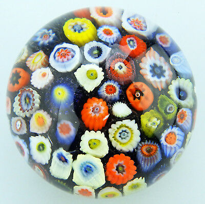 Vintage Scottish Glass Paperweights : Strathearn millefiori cane No.2 Mid 20thC