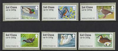 Great Britain 2011 Post And Go Birds Iii Set Of 6 Unmounted Mint, Mnh