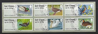 Great Britain 2011 Post And Go Birds Sheetlet Of 6 Fine Used