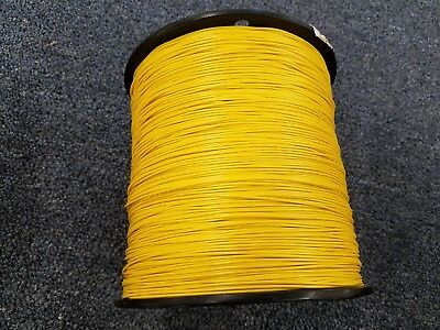 YELLOW 24 AWG Gauge Stranded Hook Up Wire Kit 500 FT REEL UL1007 300 Volt