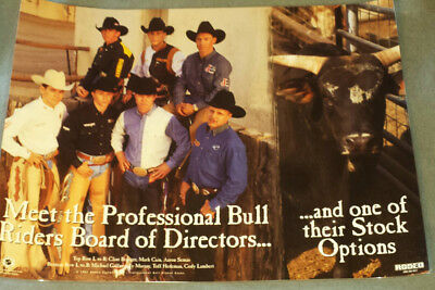 RODEO POSTER - PBR Board of Directors, Laminated-Tuff Hedeman-NEW-bullrider   A