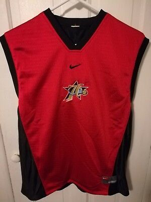 034875415ee ... usa vtg nike philadelphia 76ers reversible practice jersey mens small  or youth large 3a494 a3b02