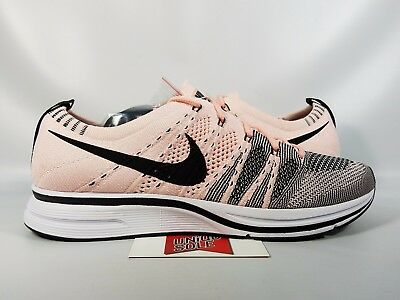 NIKE FLYKNIT TRAINER SUNSET TINT PINK BLACK WHITE AH8396-600 sz 10.5 ... 97f272d1b2
