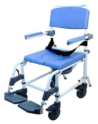 """Healthline Ezee Life Aluminum Commode Chair Standard Toilet and Shower 18"""" Seat"""