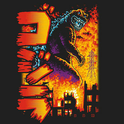 GODZILLA King of the Monsters Giant Kaiju Gojira TeeFury NEW TEEVILLAIN T-SHIRT