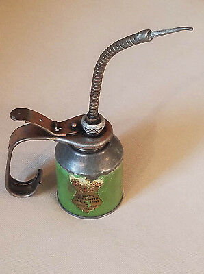 Vintage Eagle Advertising Oil Can Oiler Flexible Spout Thumb Pump South Bend, IN