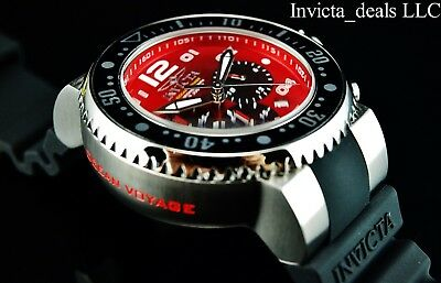NEW Invicta Men's 52mm Grand Ocean Voyage Chronograph Cherry Red Dial SS Watch