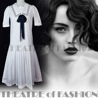 DRESS 20s GATSBY WEDDING LAURA ASHLEY VINTAGE 40s 30s 50s VICTORIAN SAILOR VAMP